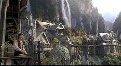 Frodo in the elven city of Rivendell.