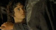 "Gandalf and Frodo: ""You must leave the Shire immediately."""