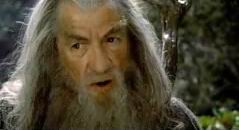 Gandalf in Orthanc (we think?); Gandalf turning to meet the Balrog.