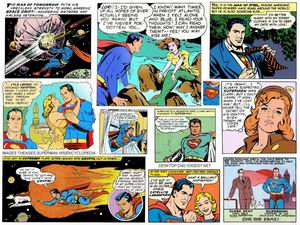 Superman comic collage